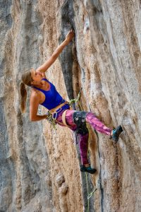 keine Angst beim Klettern mit gutem Fokus