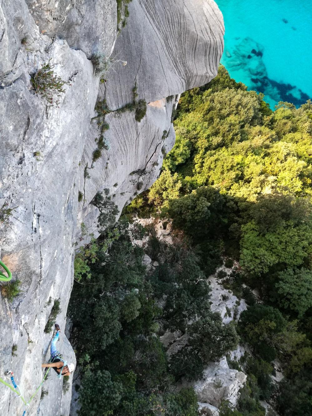 Aletta beim Klettern - Itu damagoni - Sardinien