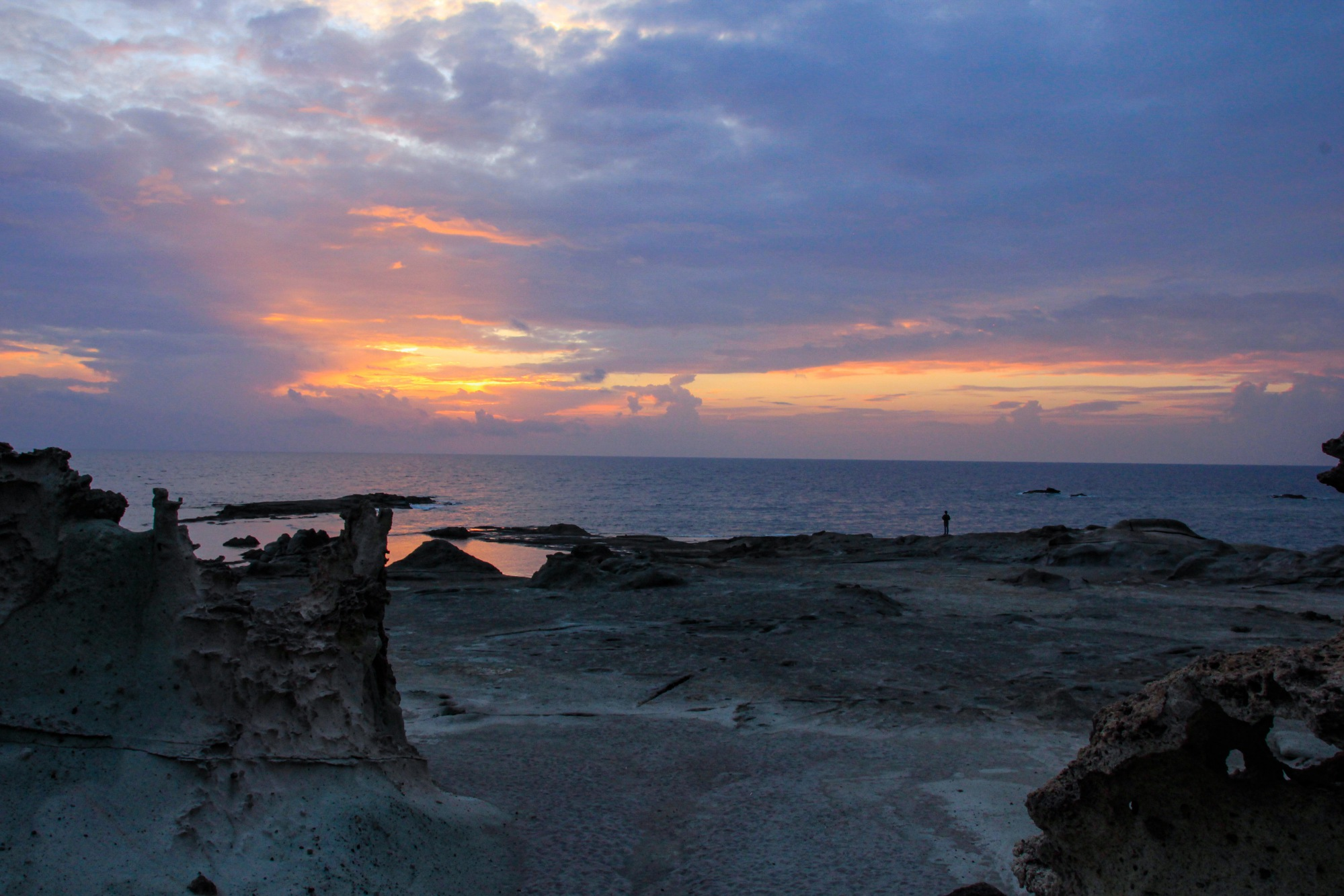 Boas Küste Sonnenuntergang